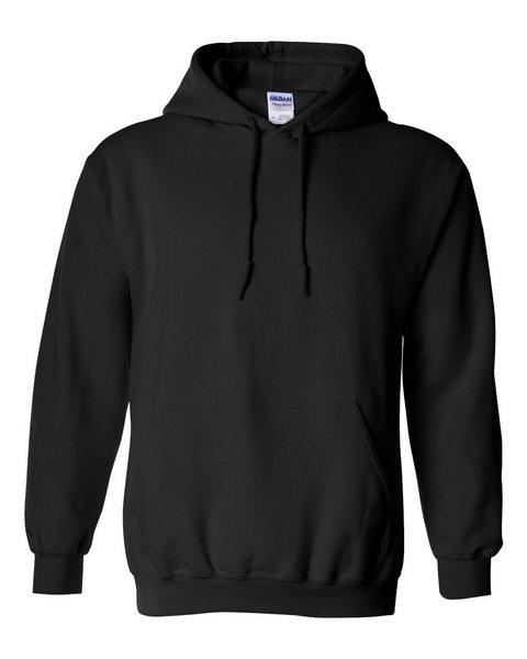 blank heavy blend hoodie black