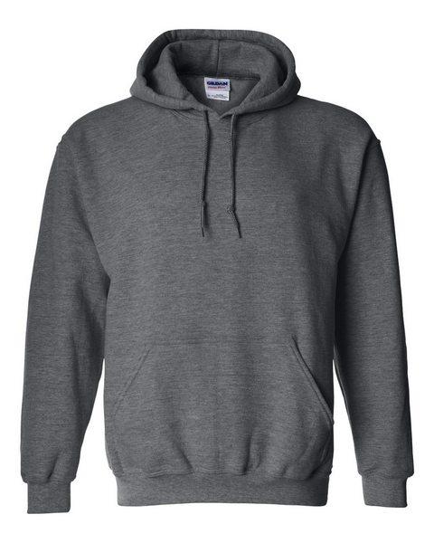 blank heavy blend hoodie dark heather